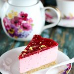 No Bake Raspberry Cheesecake with Lemon