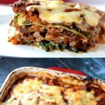 Low Carb Zucchini Lasagna - My PCOS Kitchen - A delicious gluten-free, sugar-free and grain-free cheesy lasagna with homemade meat sauce and zucchini noodles. #lowcarb #lasagna #lchf #glutenfree #grainfree