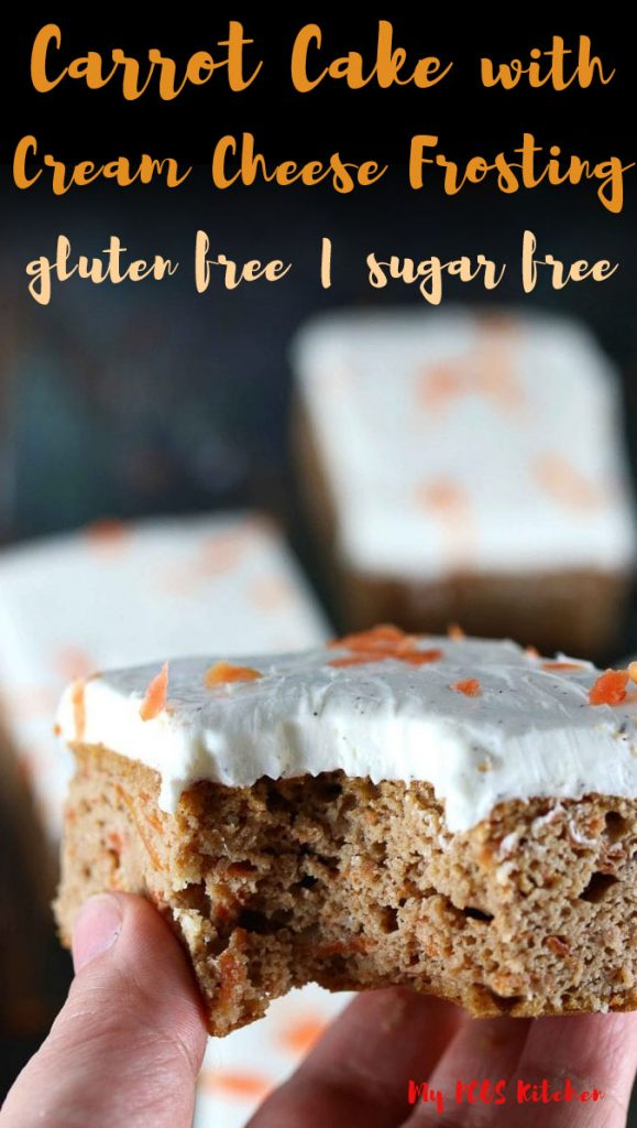 This easy sugar free carrot cake recipe can be made into a cake, cupcakes or muffins. It's the perfect low carb dessert recipe to make for a healthy dessert idea.