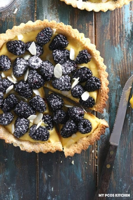 Lemon Curd Tart with Blackberries