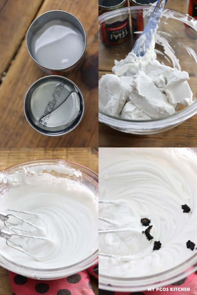 Dairy Free Whipped Cream - My PCOS Kitchen - How to make coconut whipped cream.