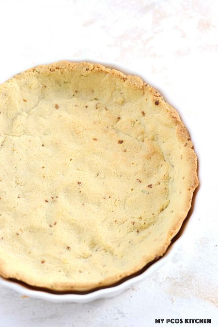 Almond Flour Pie Crust - My PCOS Kitchen - A delicious savoury low carb pie crust.