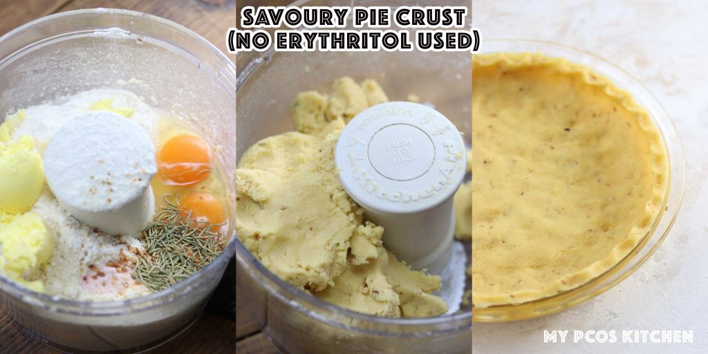 Almond Flour Pie Crust - My PCOS Kitchen - how to make a savoury pie crust that is low carb, keto and paleo approved.