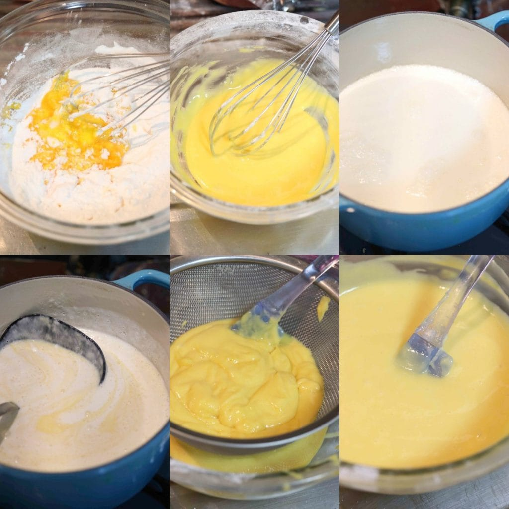 How to make low carb vanilla pastry cream step by step.