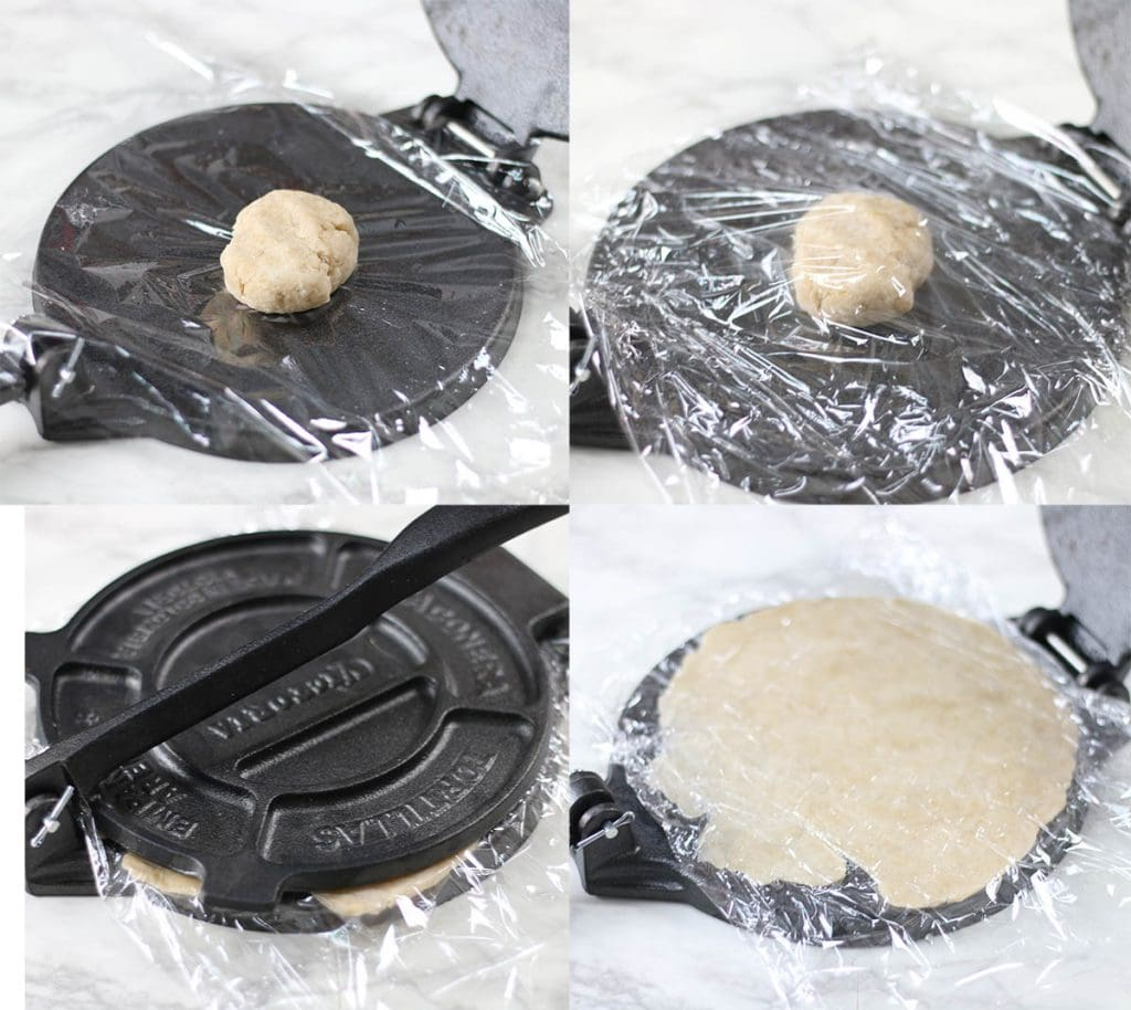 How to make tortillas using a tortilla press