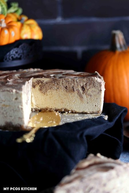 Sugar Free Low Carb Pumpkin Cheesecake