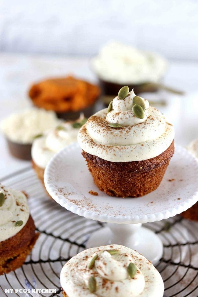 A pumpkin cupcakes recipe made without sugar, gluten or grains!