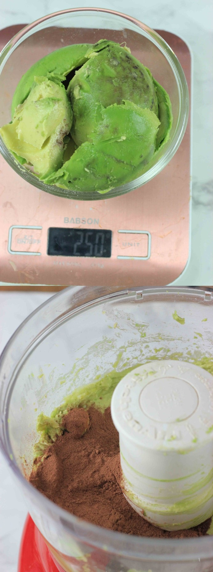 Weigh your avocados when making avocado brownies.