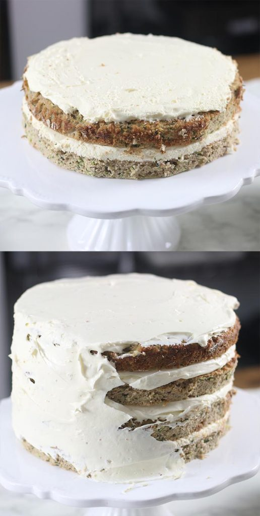 Keto Healthy Zucchini Cake With Cream Cheese Frosting My