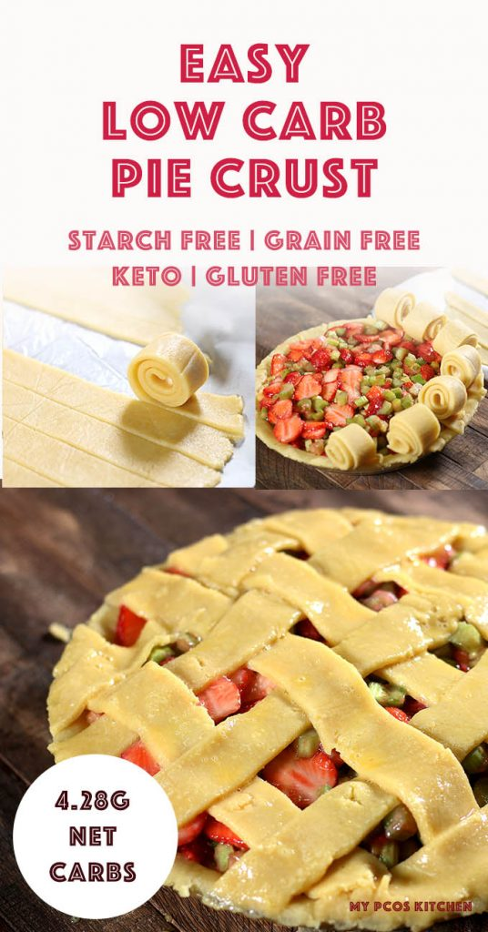Nothing can get easier than this. This easy pie crust recipe just needs to get mixed and rolled out. It's all starch-free and gluten-free so you won't have to worry about any sneaky carbs. #easyketorecipe #glutenfreerecipes #piecrust #lowcarbrecipes #lowcarbpie #mypcoskitchen
