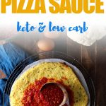 Forget store bought sauce when you can make delicious homemade keto pizza sauce. Use this easy homemade recipe to make the best low carb pizza recipes ever! #tomatosauce #tomatosaucerecipe #lowcarbpizza #mypcoskitchen