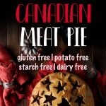 The best recipe for a French Canadian meat pie. This tourtiere recipe uses a gluten free pie crust and a mix of different meats! Use daikon radish instead of potatoes for the perfect keto meat pie. #piecrustrecipe #glutenfreepiecrust #ketopie #meatpie #mypcoskitchen