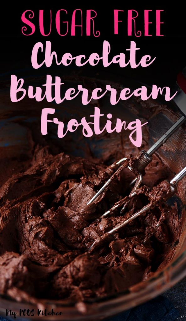 This keto chocolate frosting is simply off the charts! Super easy to make and the best low carb buttercream frosting recipe you'll ever make! Sweetened with erythritol and stevia, it's the best sugar free chocolate frosting!