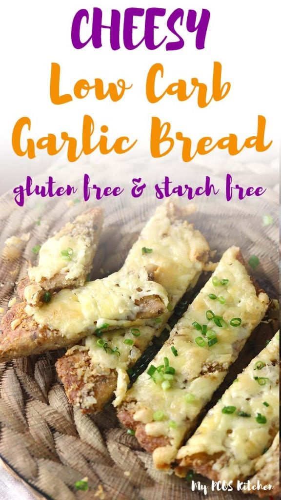 This low carb garlic bread recipe is full of mozzarella cheese and garlic. It's quick to make and super easy! Made with a mix of almond flour and coconut flour, it's the best keto bread recipe you'll ever make.