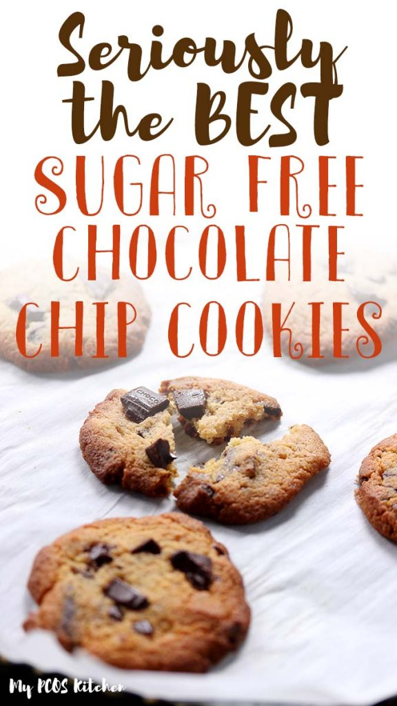 These soft and chewy sugar free chocolate chip cookies are the best low carb cookies ever! Such an easy recipe to make, filled with lots of chocolate, you'll want to make these almond flour chocolate chip cookies every day.