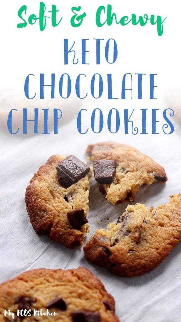These low carb chocolate chip cookies are easy to make and they're the best keto cookie recipe you'll ever make! Super soft and chewy, these low carb cookies are sweetened with allulose!