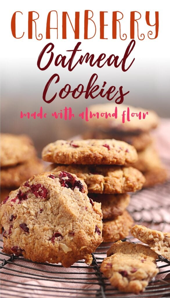 These cookies are crispy, have a subtly sweet flavor from the cranberries that compliments the almond slices, cinnamon, and coconut flakes in this recipe! They're the perfect keto cookie dessert you'll ever need this holiday season. Try making this low carb cookie recipe for the best oatmeal cookies.