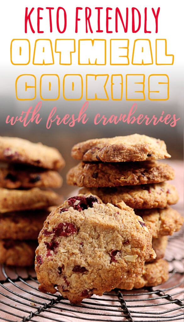 Move over pumpkin spice, these keto oatmeal cookies are a delicious way to enjoy the season. Ready in less than 40 minutes and less than 0.6g net carbs per cookie, you'll love how easy it is to make these! These oatmeal cookies contain no oats, are made with almond flour and cranberries to save on the carbs and are simply the best low carb holiday cookie ever!