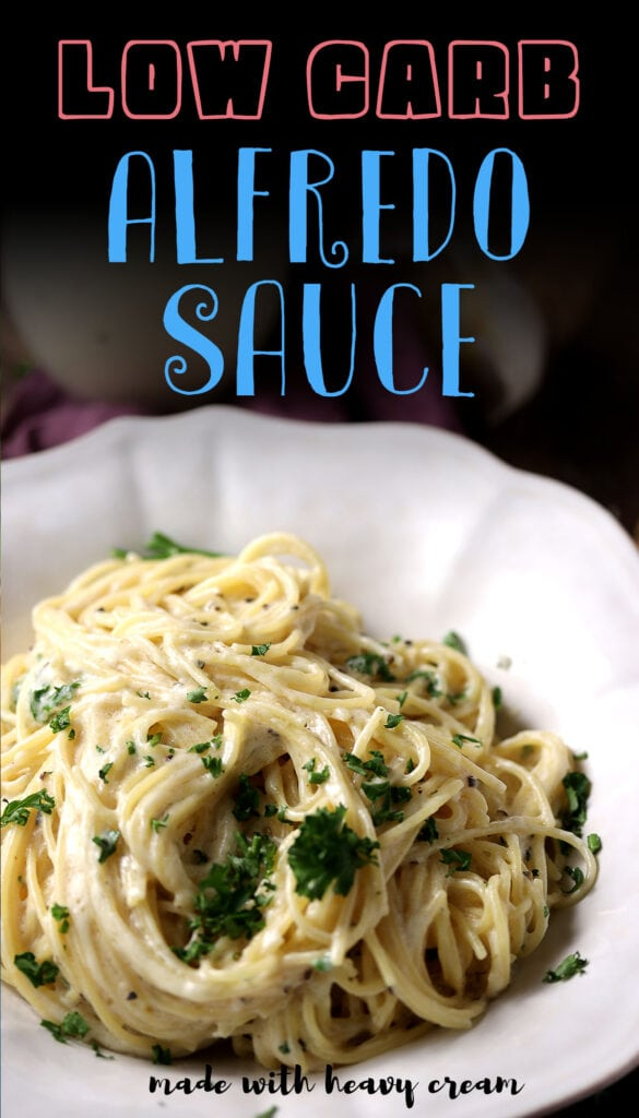 Alfredo sauce is a classic Italian dish that's typically made with cream, butter and cheese. This healthy recipe for alfredo sauce skips the milk and flour and is made keto friendly by using low carb ingredients. It can be served over zucchini noodles to make it low carb (perfect for ketogenic diets) or on your favorite vegetables like broccoli or cauliflower rice to make a delicious casserole. The garlic adds an extra punch of flavor but feel free to omit if you don't have any in your pantry! Whip up this easy dinner tonight and everyone will be impressed!