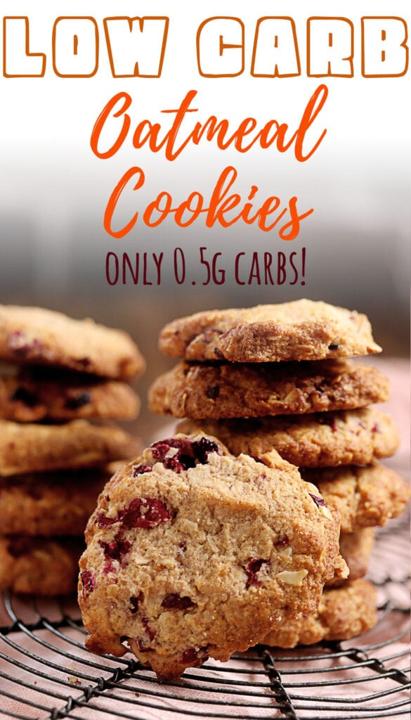 If you're a fan of oatmeal cookies and want to indulge without the guilt, these keto friendly cookies are for you! Made without oats and only 0.57g net carbs per cookie, they're the best low carb cookie you'll ever make! With so many possible variations of this oatmeal cookie it'll be hard not to fall in love at first bite!