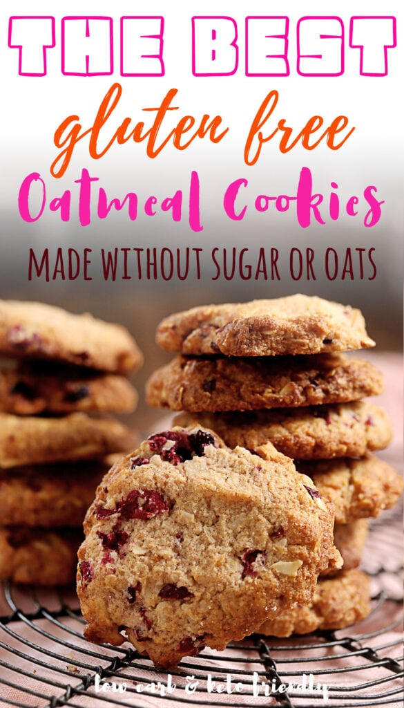 If you're on a keto diet, these oatmeal cookies are for you! They're gluten free and sugar-free AND contain no oats! Even better? They taste just like an old fashioned holiday cookie that grandma used to make with real butter and lots of cinnamon. These would be the perfect dessert after Christmas dinner or any day when you need something sweet but don't want all those carbs.