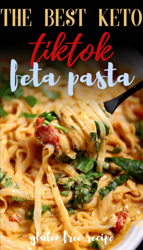 Pasta has always been a go-to meal but what if you can't have gluten? Or need something keto or low carb? Enter this basil feta pasta that's made in the oven, air fryer or crockpot. It's healthy, low carb with only 9 ingredients--and it tastes amazing! Using delicious konjac noodles saves on the carbs and tastes just like regular pasta!