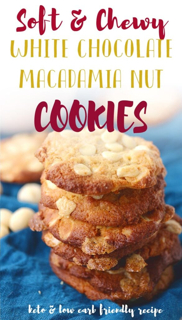 Want to try something new and healthy for your sweet tooth? These white chocolate macadamia nut cookies are the perfect low carb, keto, gluten free treat. They're soft and chewy with just the right amount of crunch from the nuts. Let me show you how easy they are to make! Originally made with almond flour, you could also make them nut free if you wanted.