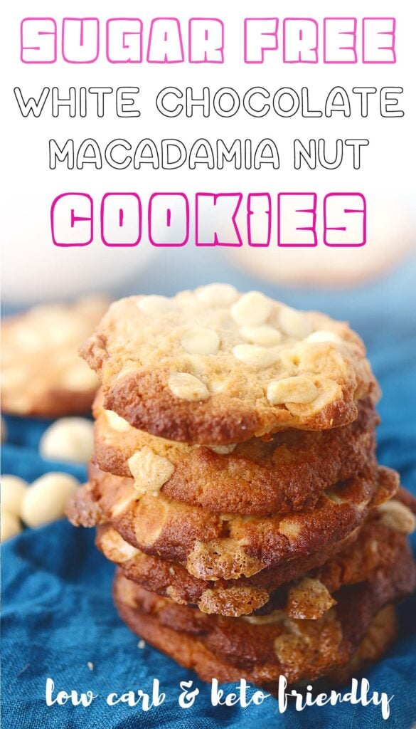 These white chocolate macadamia nut cookies are so soft, chewy, and just downright delicious. They're the perfect healthy keto cookie made with almond flour and keto friendly sweeteners. Give them a try today! You won't be sorry :)