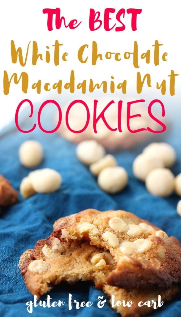 These low carb, keto macadamia nut cookies are soft and chewy with a delicate crumb. This cookie recipe is also sugar free, gluten free, and low carb. And best of all - it's 100% homemade. You can whip up this simple cookie in less than 30 minutes to satisfy your sweet tooth cravings. Click the link below for the complete recipe today!